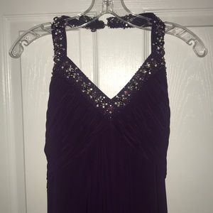 Beautiful Purple Halter Formal Dress